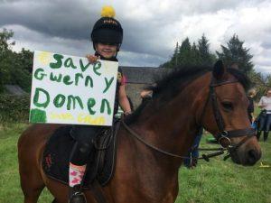 Horseback protest against Caerphilly housing development